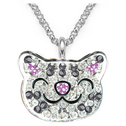 The Big Bang Theory Soft Kitty Crystal Ring Necklace