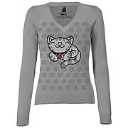 Big Bang Theory Pixel Kitty Knit Junior's Sweatshirt