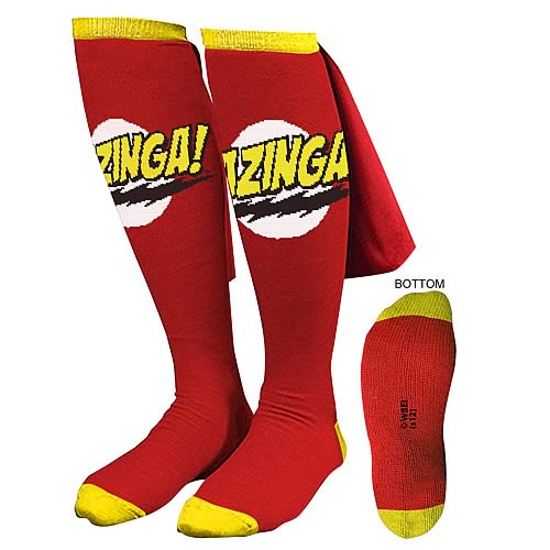 Big Bang Theory Red Bazinga! Caped Socks