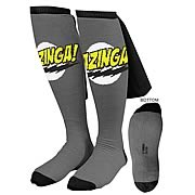 Big Bang Theory Black Bazinga Caped Socks