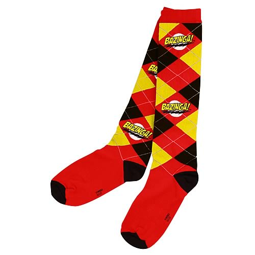 Big Bang Theory Argyle Bazinga Socks