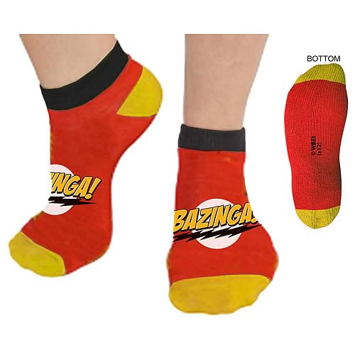 Big Bang Theory Bazinga Footies Slipper Socks