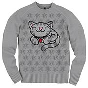 Big Bang Theory Soft Kitty Gray Sweater