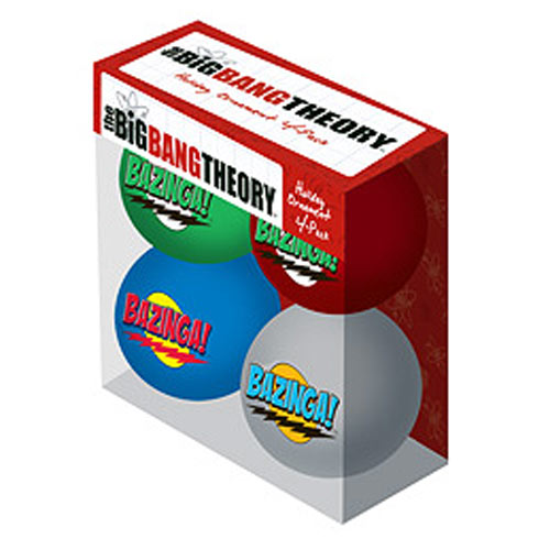 Big Bang Theory Bazinga! Holiday Ball Ornament 4-Pack