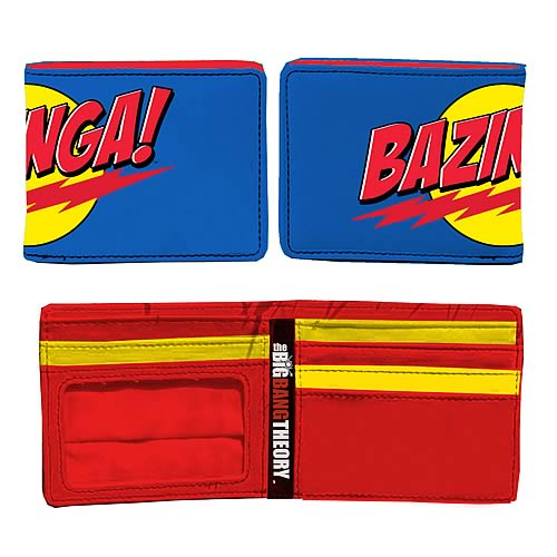 Big Bang Theory Blue Bazinga! Logo Wallet