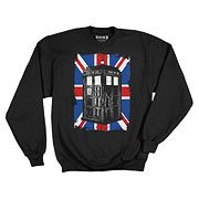 Doctor Who TARDIS in Union Jack Fleece Sweater