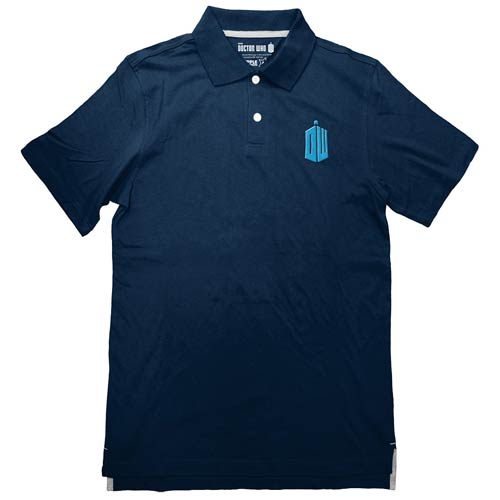 Doctor Who TARDIS Logo Blue Polo T-Shirt