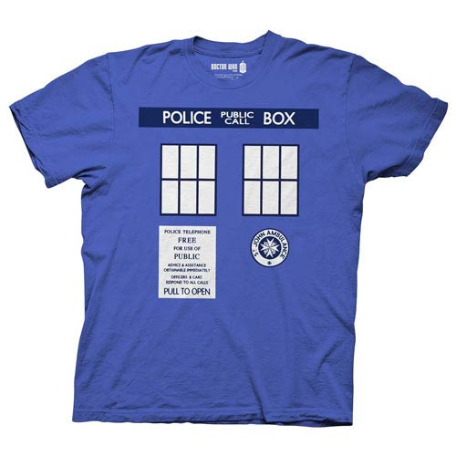Doctor Who TARDIS Police Call Box Costume Blue T-Shirt