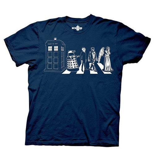 Doctor Who Detailed Street Crossing Blue T-Shirt
