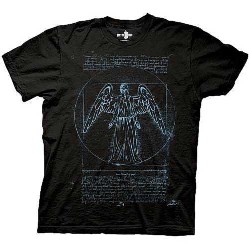 Doctor Who Vitruvian Angel Black T-Shirt