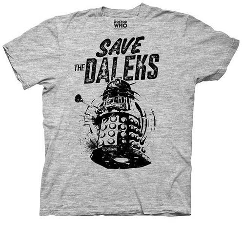Doctor Who Save The Daleks Gray T-Shirt