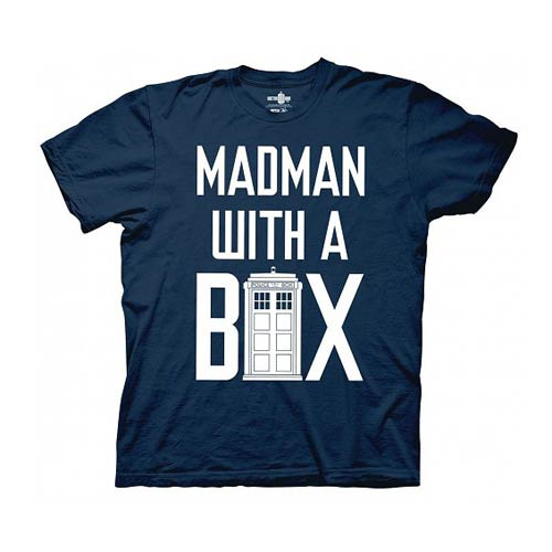 Doctor Who Madman with a Box TARDIS Blue T-Shirt