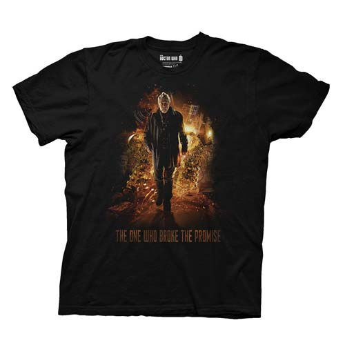 Doctor Who War Doctor Who Broke The Promise Black T-Shirt