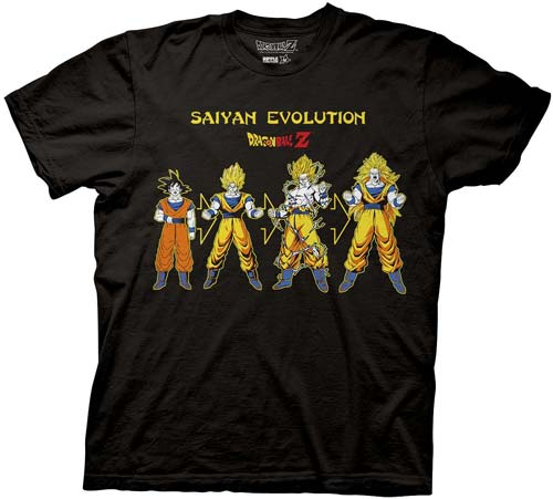 Dragon Ball Z Goku Saiyan Evolution Black T-Shirt