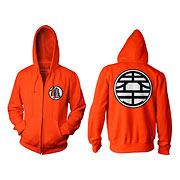 Dragon Ball Z Kame Symbol Orange Zip-Up Hoodie