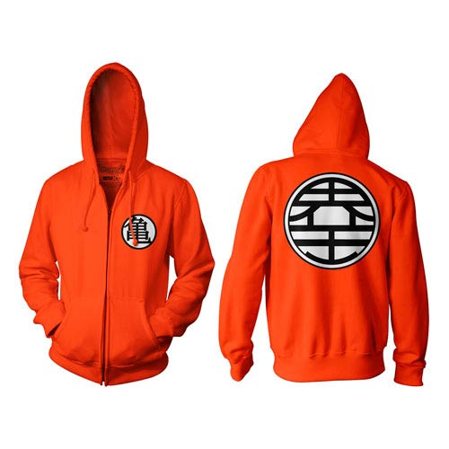 Dragon Ball Z Kame Symbol Orange Zip-Up Hoodie