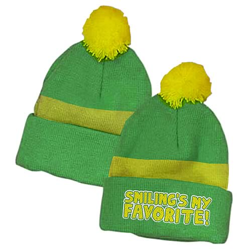 Elf Smiling's My Favorite Green Beanie Hat