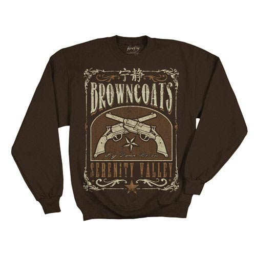 Firefly Browncoats of Serenity Valley Brown Fleece Sweater