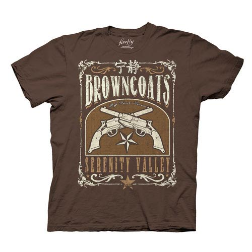 Firefly Browncoats Serenity Valley Guns Brown T-Shirt