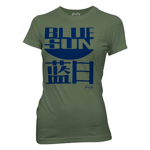 Firefly Blue Sun Green Juniors T-Shirt