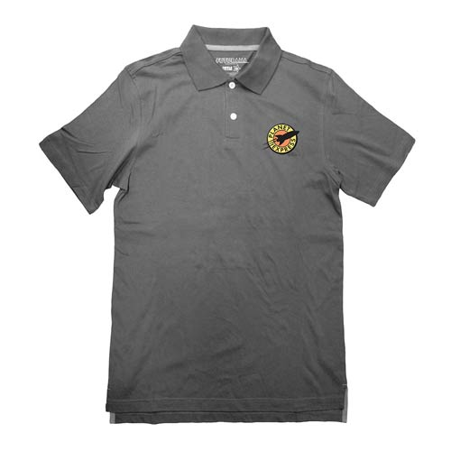 Futurama Planet Express Logo Gray Polo T-Shirt