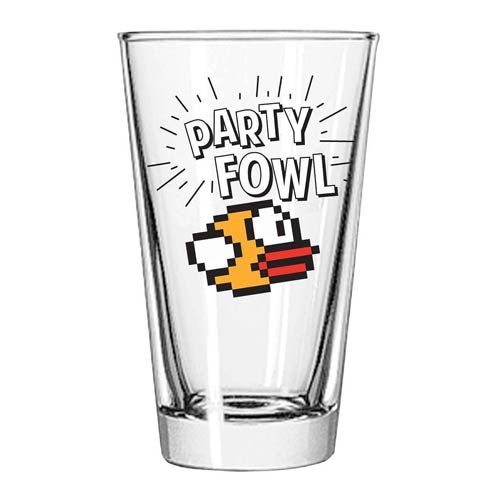 Flappy Bird Party Fowl Pint Glass