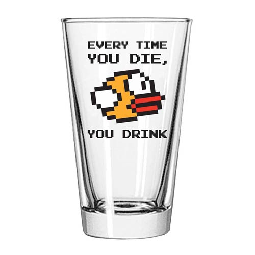 Flappy Bird Drinking Game Pint Glass