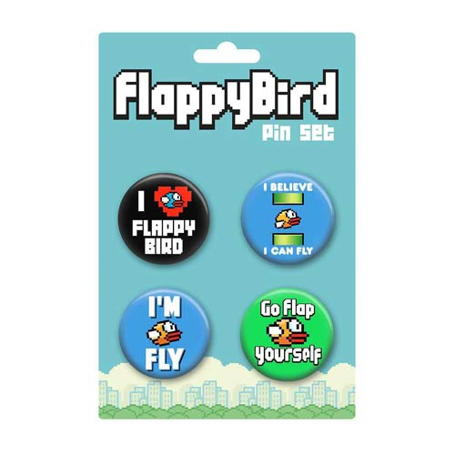 Flappy Bird Button 4-Pack