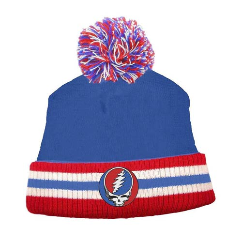 Grateful Dead Deadhead Retro Pom Beanie Hat