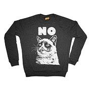 Grumpy Cat No Gray Fleece Sweater