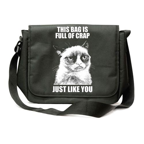 Grumpy Cat Messenger Bag