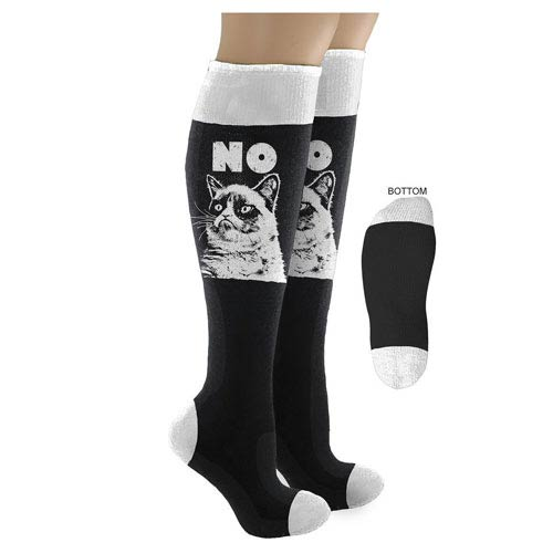 Grumpy Cat No Black Knee-High Socks