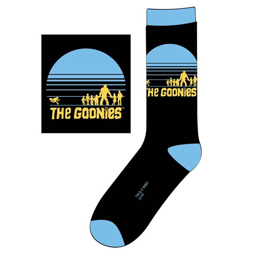 The Goonies Silhouette Circle Logo Crew Socks