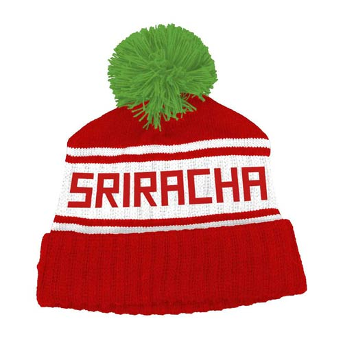 Sriracha Hot Chili Sauce Retro Pom Beanie Hat