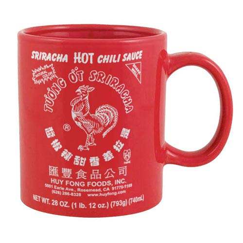 Sriracha Large Label Red Mug
