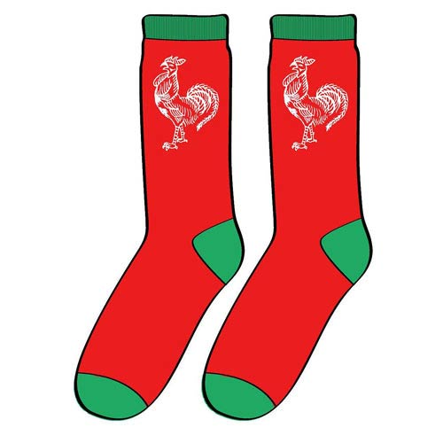 Sriracha Hot Chili Sauce Logo Red Socks