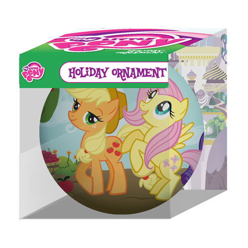 MLP Rarity, Applejack, and Fluttershy Holiday Ornament