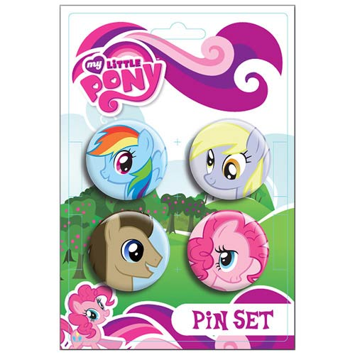 My Little Pony Ponies Pin Set 4-Pack