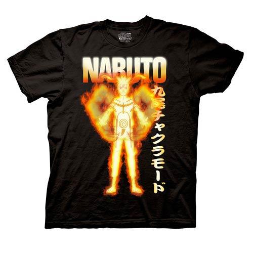Naruto Shippuden Bijuu Mode Black TShirt  Ripple Junction  Naruto  TShirts at Entertainment
