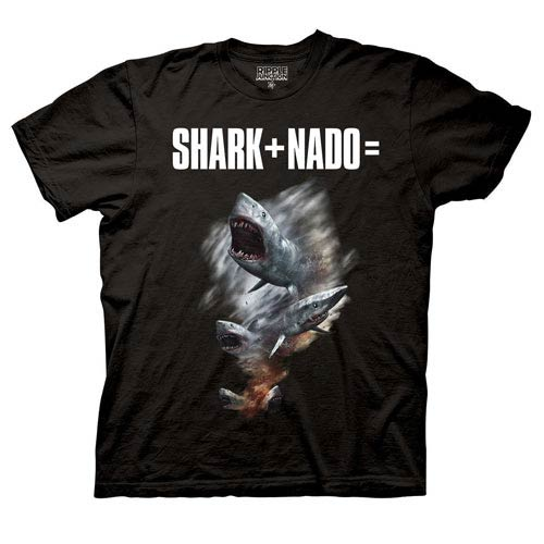 Sharknado Shark Plus Nado Equals Black T-Shirt