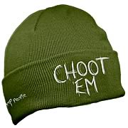 Swamp People Choot Em Green Beanie Hat
