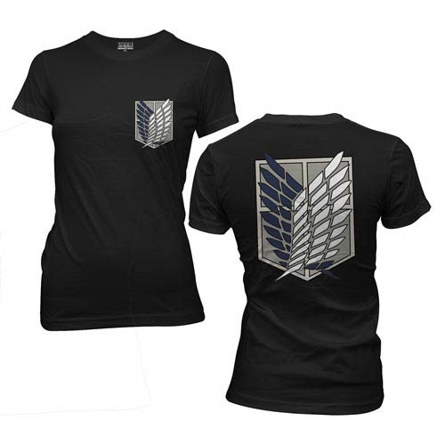 Attack on Titan Survey Corps Black Juniors T-Shirt