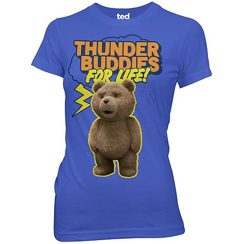 Ted Thunder Buddies For Life! Juniors Blue T-Shirt
