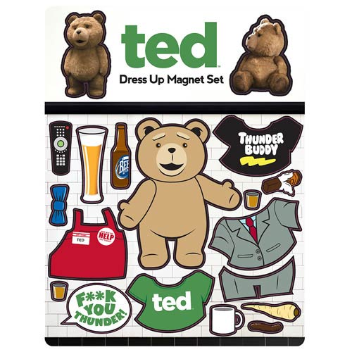 Ted Dress-Up Magnet Set