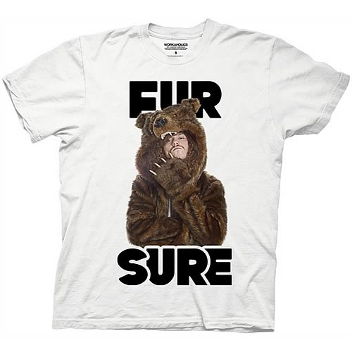 Workaholics Fur Sure Blake Sunglasses Bear Coat T-Shirt