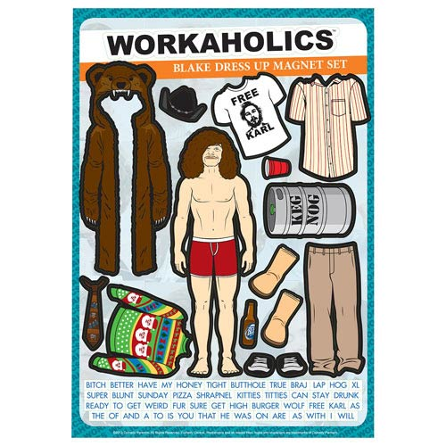 Workaholics Blake Dress-Up Magnet Set