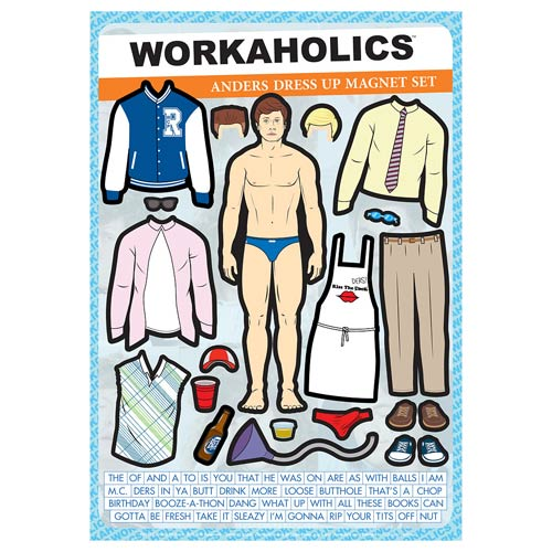 Workaholics Anders Dress-Up Magnet Set
