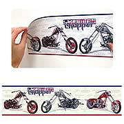 American Chopper Peel and Stick Border Applique