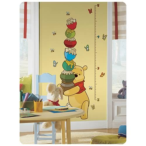 Winnie the Pooh Peel and Stick Growth Chart