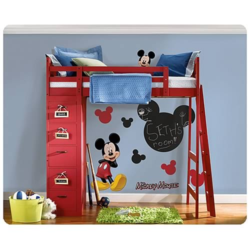 Disney Mickey Mouse Chalk Board Peel and Stick Wall Applique